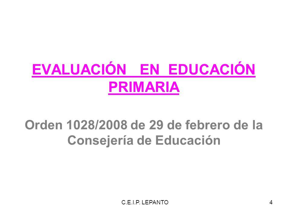 EVALUACIÓN EN EDUCACIÓN PRIMARIA