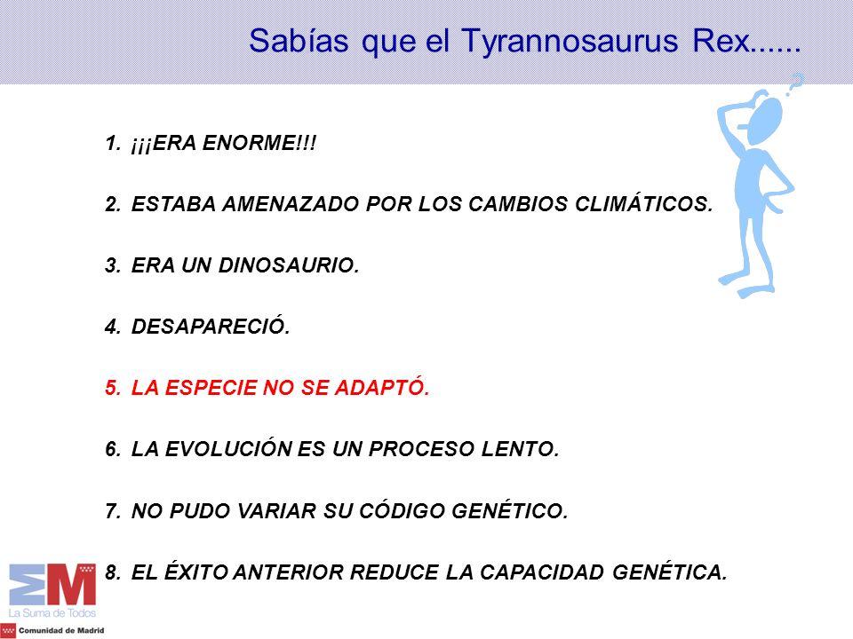 Sabías que el Tyrannosaurus Rex......