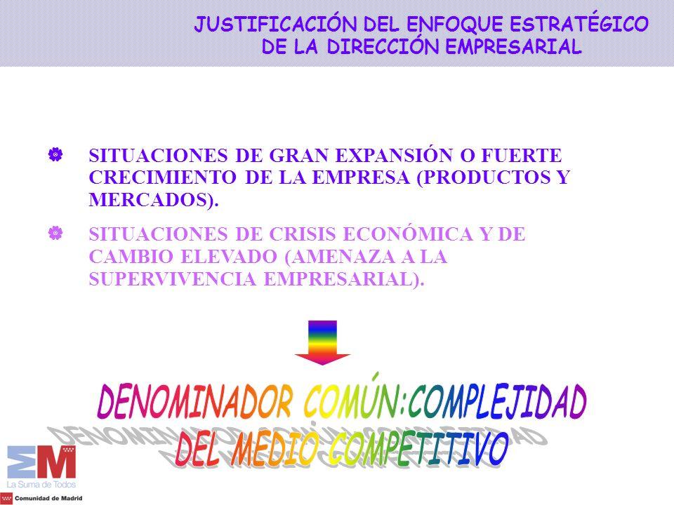 JUSTIFICACIÓN DEL ENFOQUE ESTRATÉGICO DE LA DIRECCIÓN EMPRESARIAL