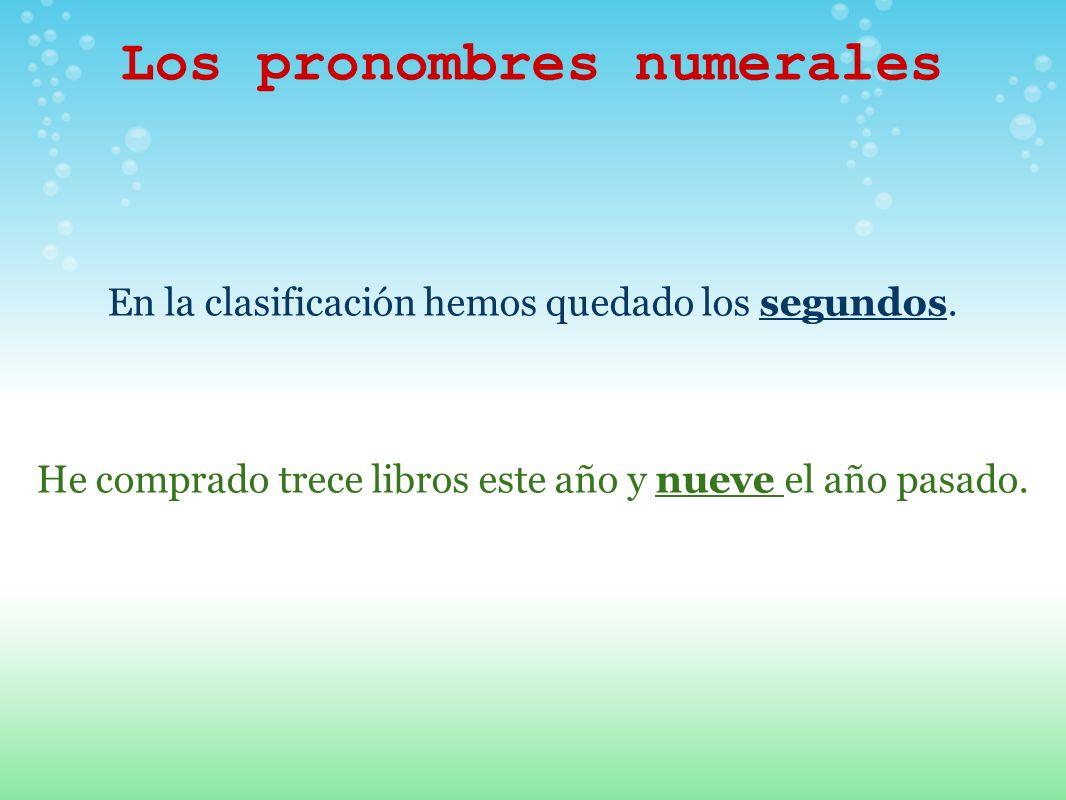 Los pronombres numerales