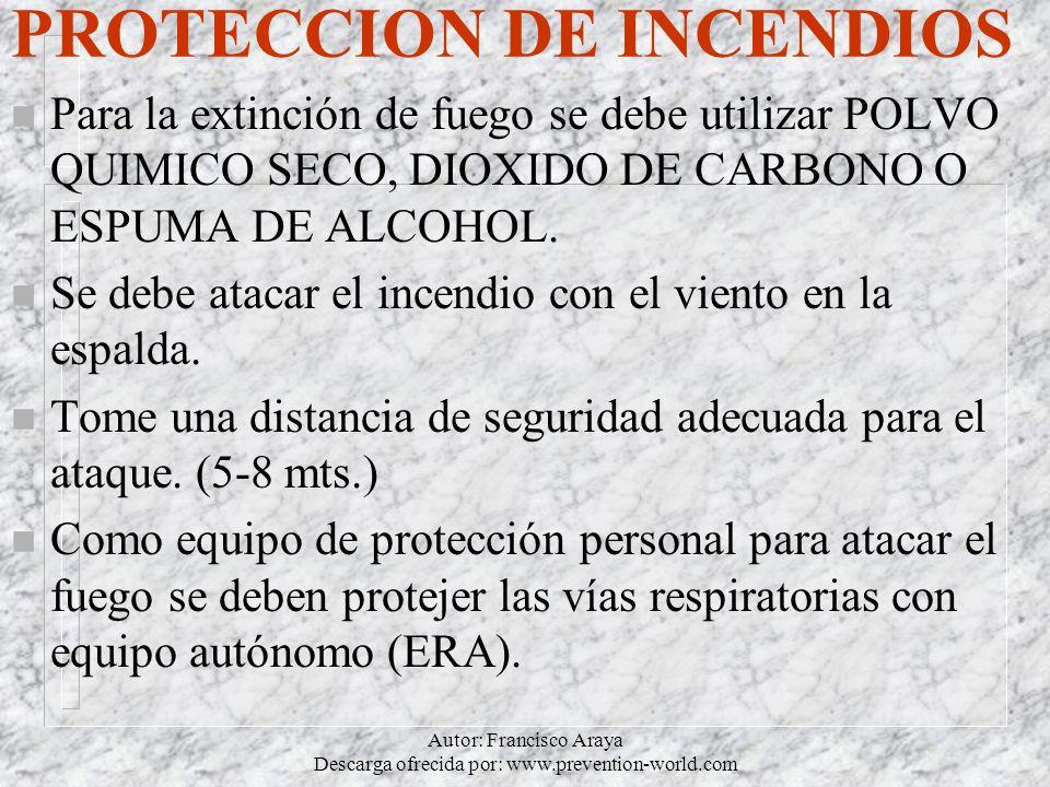 PROTECCION DE INCENDIOS