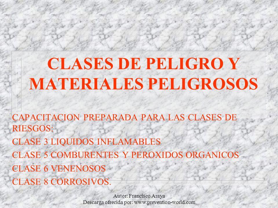 CLASES DE PELIGRO Y MATERIALES PELIGROSOS