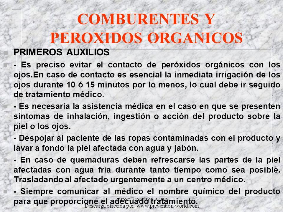 COMBURENTES Y PEROXIDOS ORGANICOS