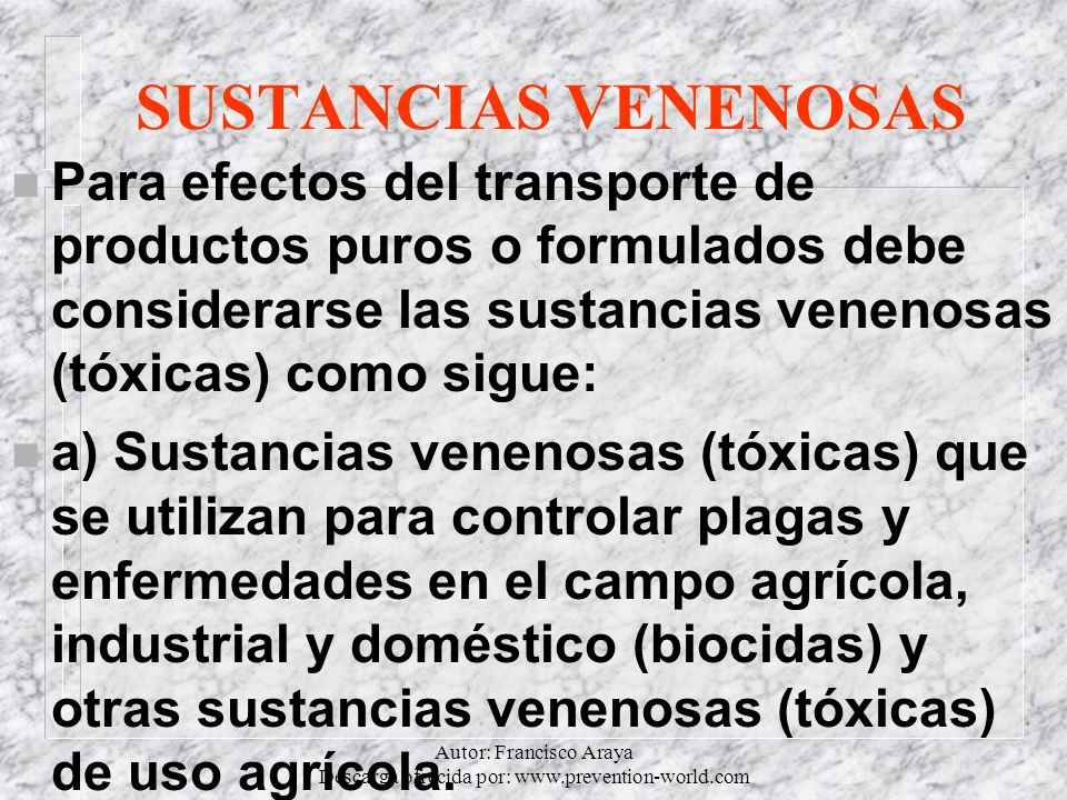 Autor: Francisco Araya Descarga ofrecida por: www.prevention-world.com