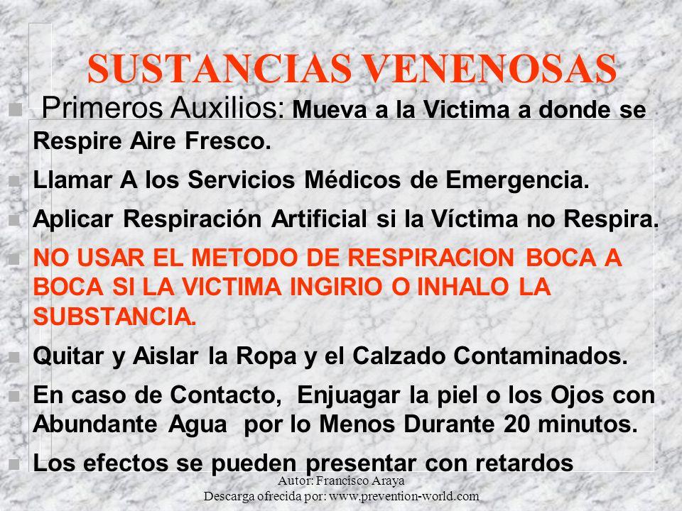 Autor: Francisco Araya Descarga ofrecida por: www.prevention-world.com
