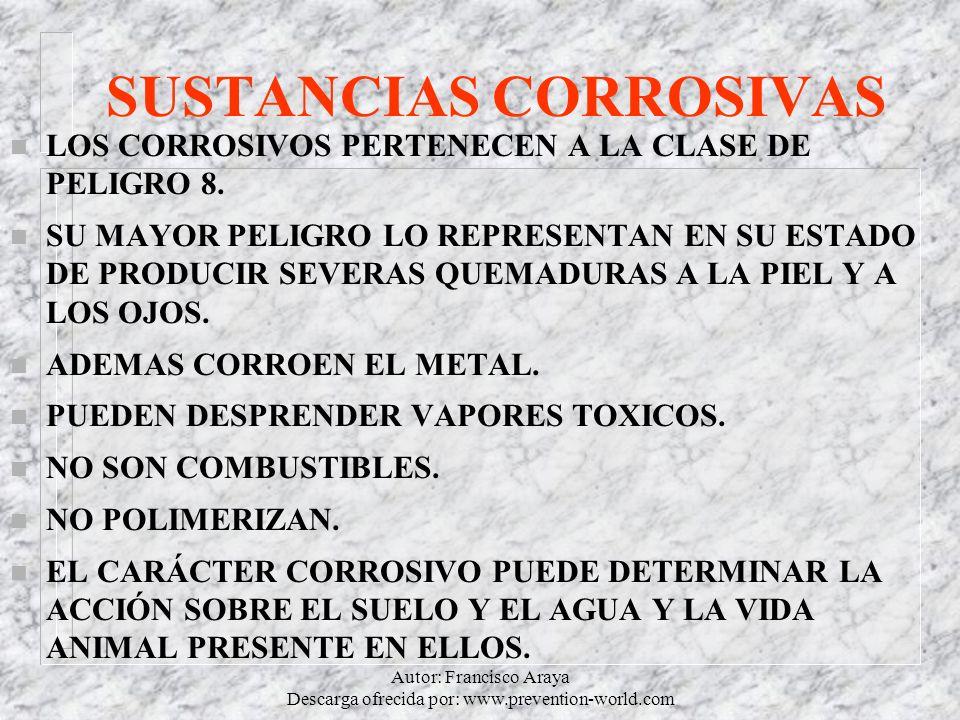 SUSTANCIAS CORROSIVAS
