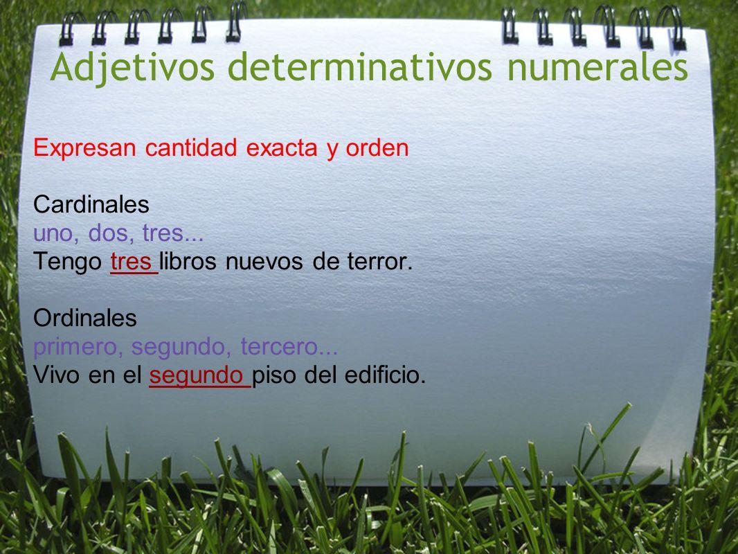 Adjetivos determinativos numerales