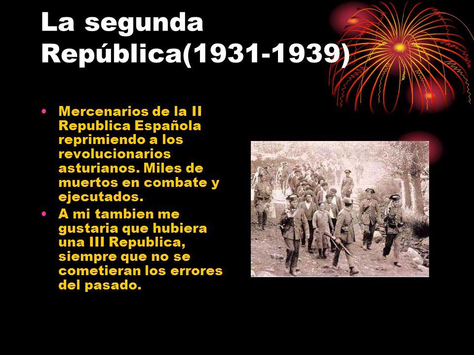 La segunda República(1931-1939)
