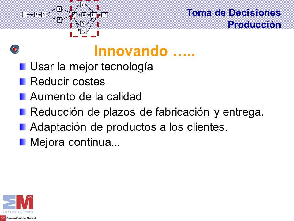 Innovando ….. Usar la mejor tecnología Reducir costes