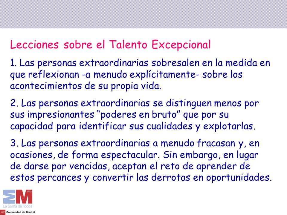 Lecciones sobre el Talento Excepcional