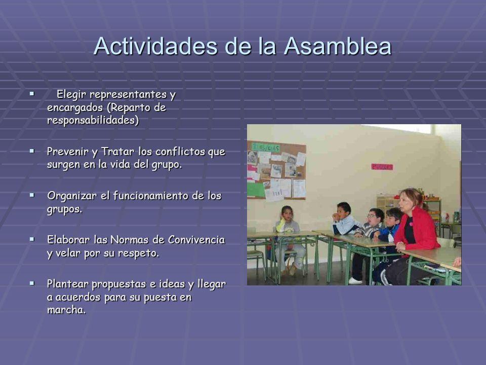 Actividades de la Asamblea