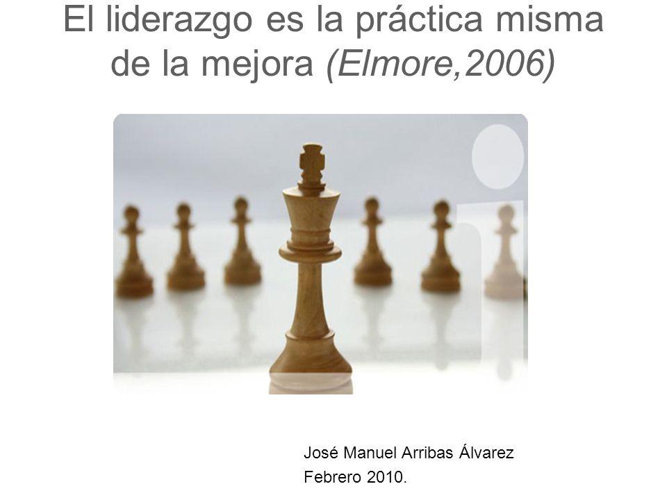 El liderazgo es la práctica misma de la mejora (Elmore,2006)