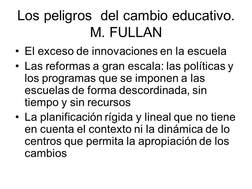 Los peligros del cambio educativo. M. FULLAN