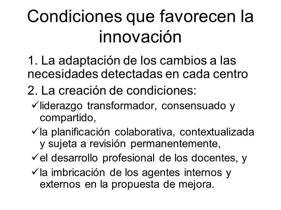 Condiciones que favorecen la innovación