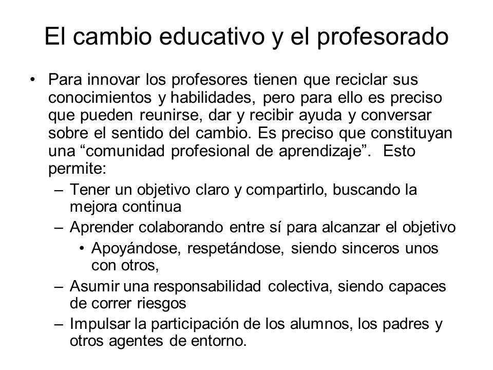 El cambio educativo y el profesorado