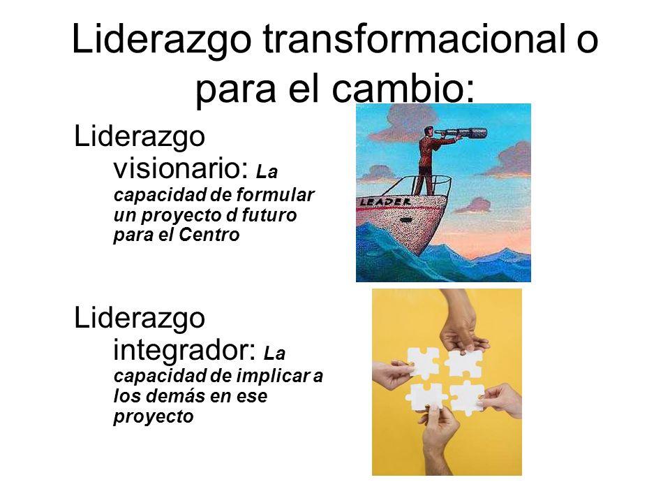 Liderazgo transformacional o para el cambio: