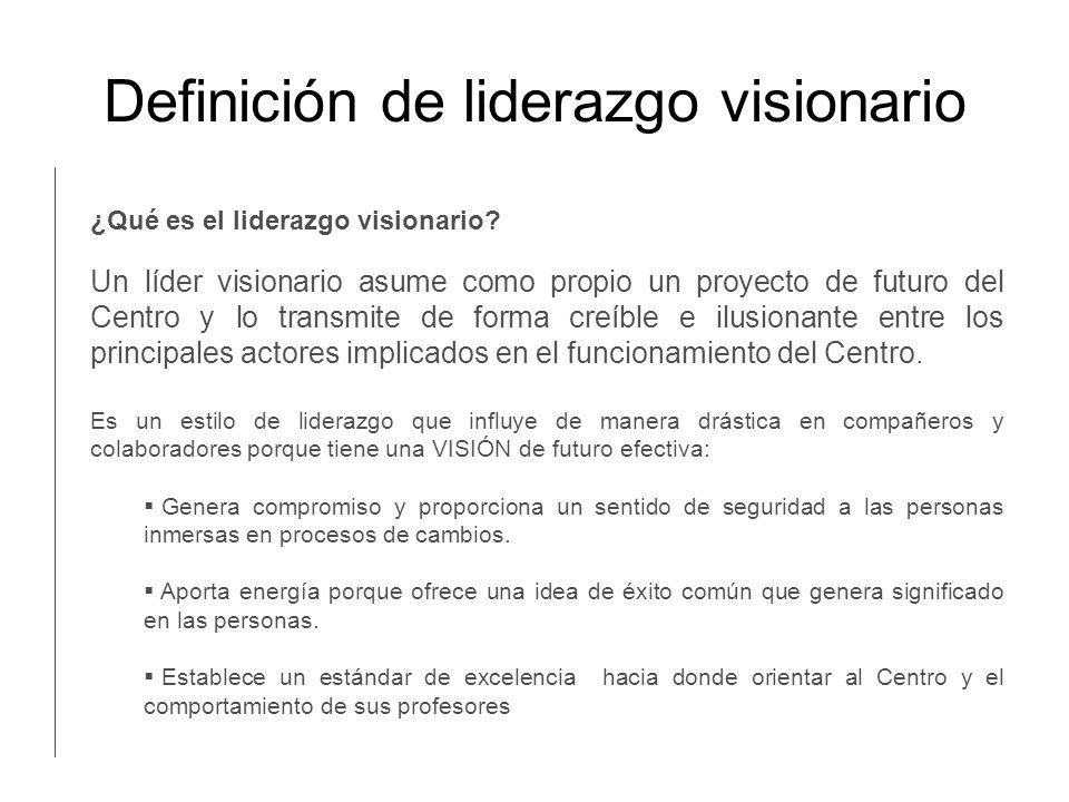 Definición de liderazgo visionario