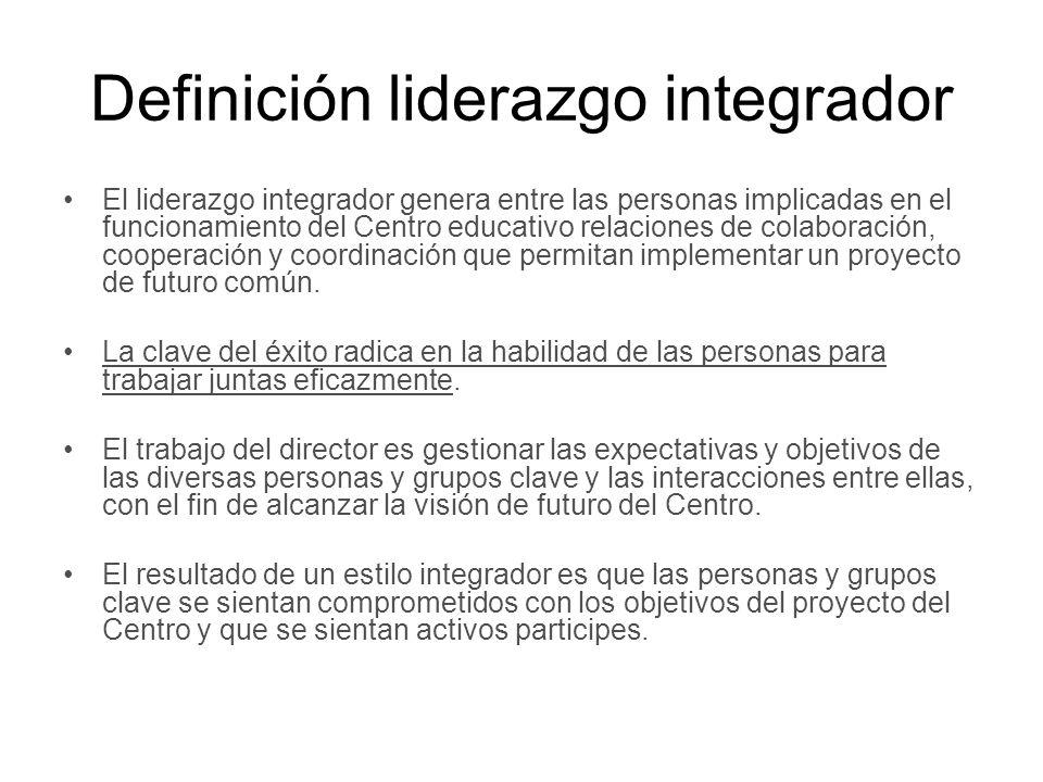 Definición liderazgo integrador