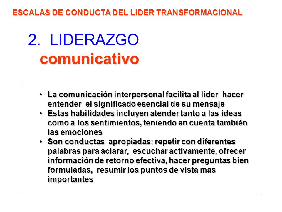 2. LIDERAZGO comunicativo