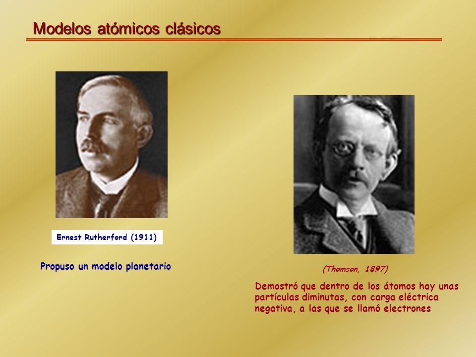 Modelos atómicos clásicos