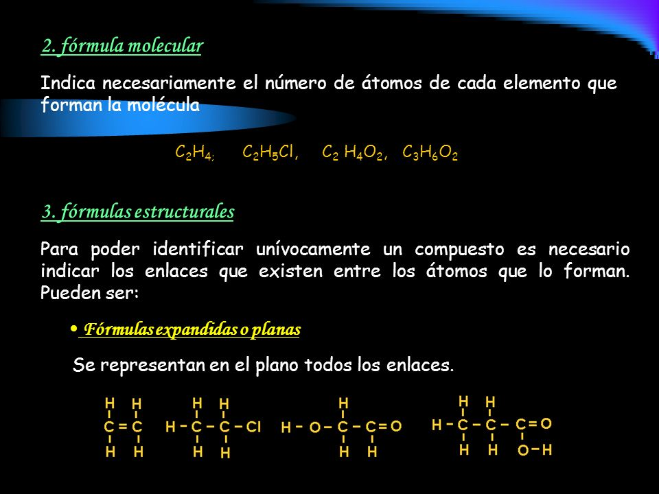 3. fórmulas estructurales
