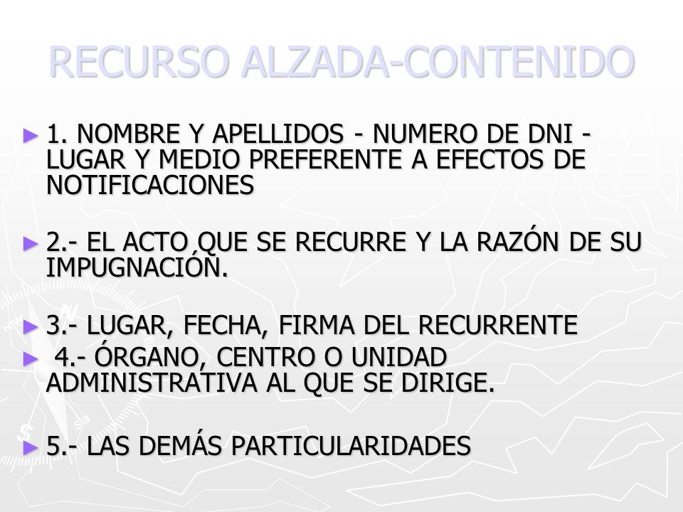 RECURSO ALZADA-CONTENIDO