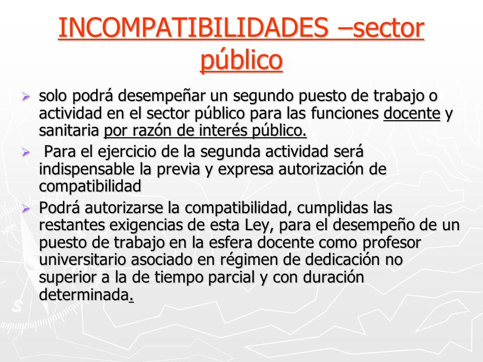 INCOMPATIBILIDADES –sector público