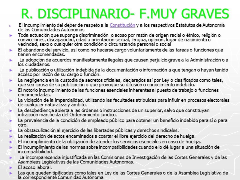 R. DISCIPLINARIO- F.MUY GRAVES