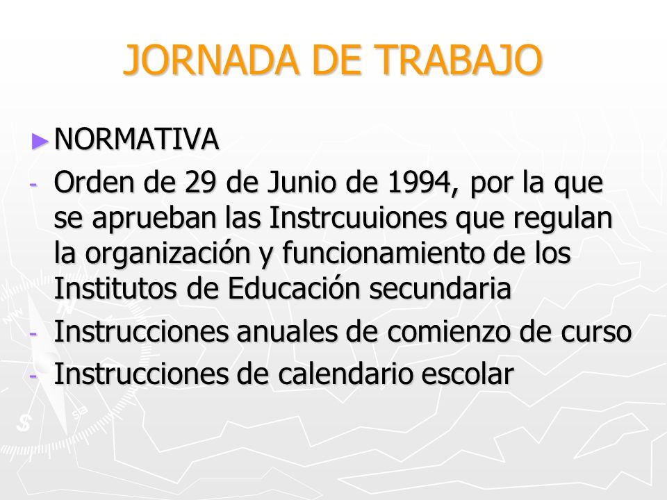 JORNADA DE TRABAJO NORMATIVA