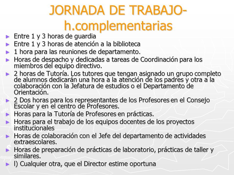 JORNADA DE TRABAJO- h.complementarias