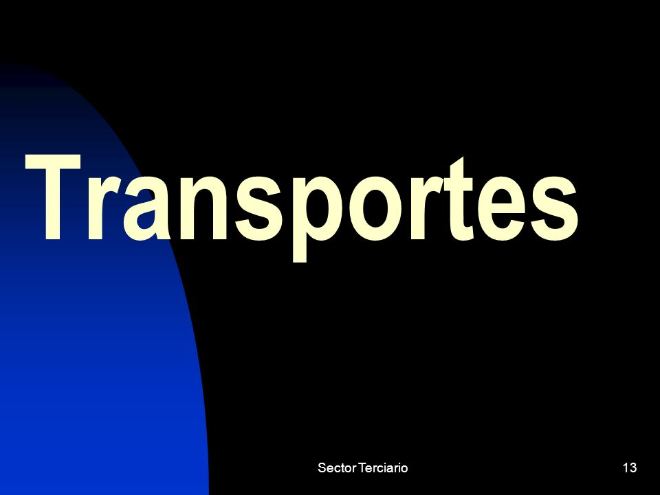 Transportes Sector Terciario