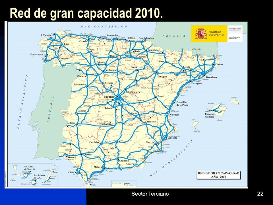 Red de gran capacidad 2010. Sector Terciario