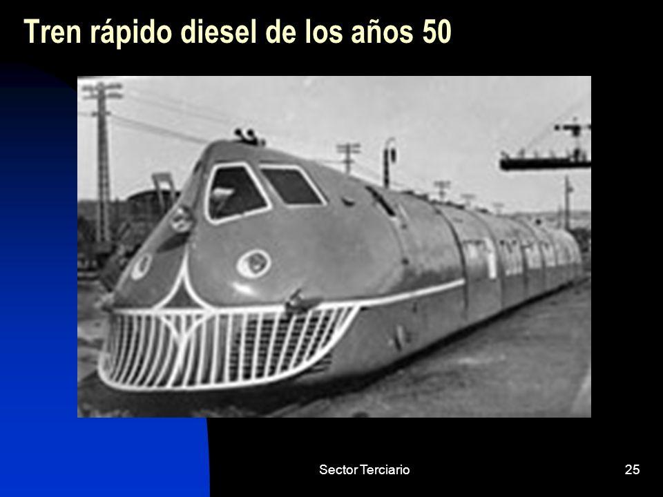 Tren rápido diesel de los años 50