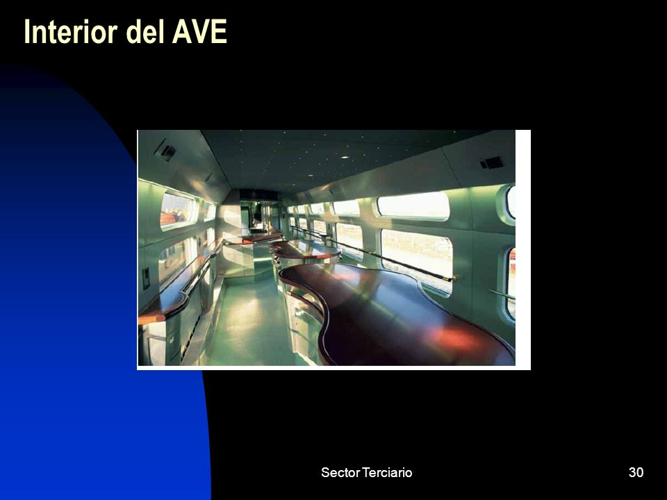 Interior del AVE Sector Terciario