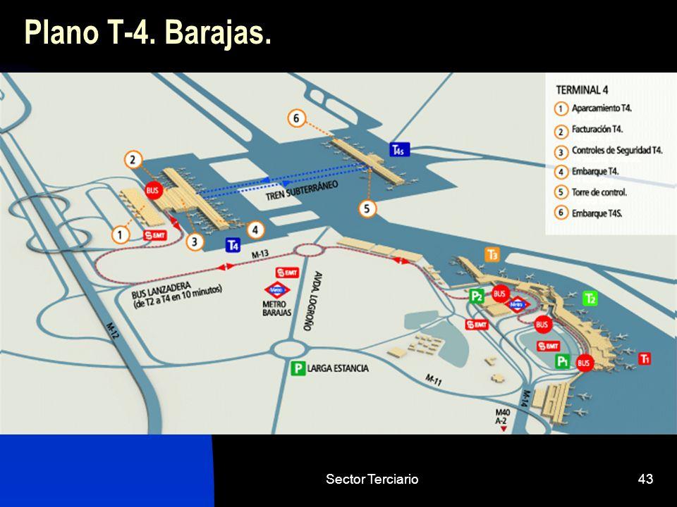 Plano T-4. Barajas. Sector Terciario