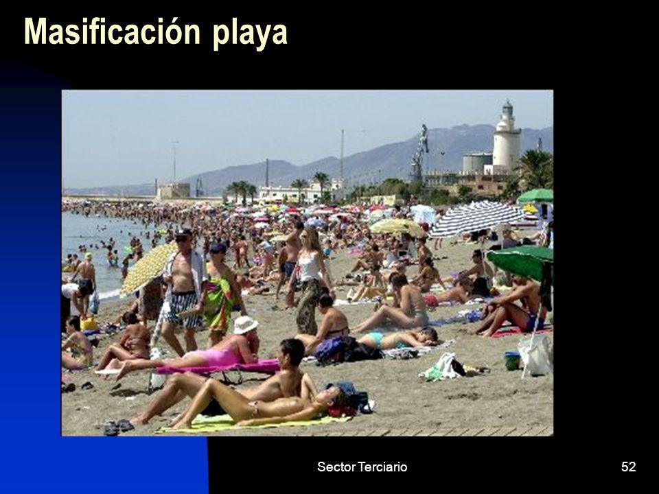 Masificación playa Sector Terciario