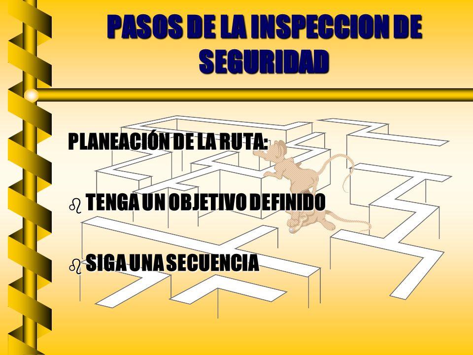 PASOS DE LA INSPECCION DE SEGURIDAD
