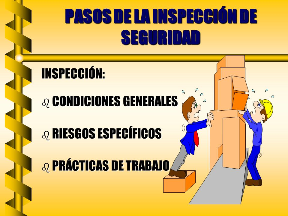 PASOS DE LA INSPECCIÓN DE SEGURIDAD