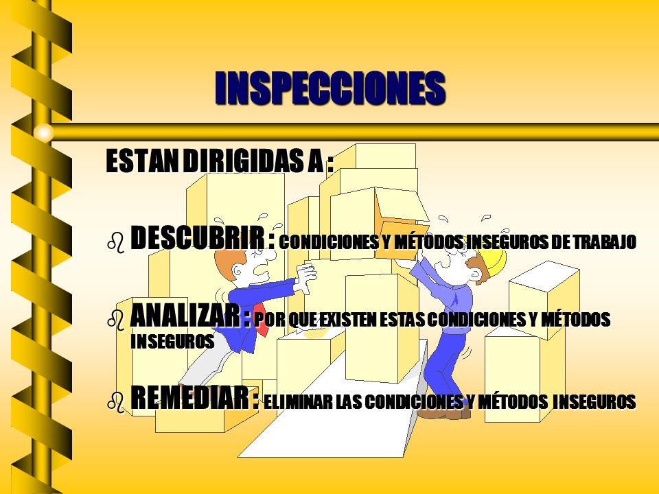 INSPECCIONES ESTAN DIRIGIDAS A :