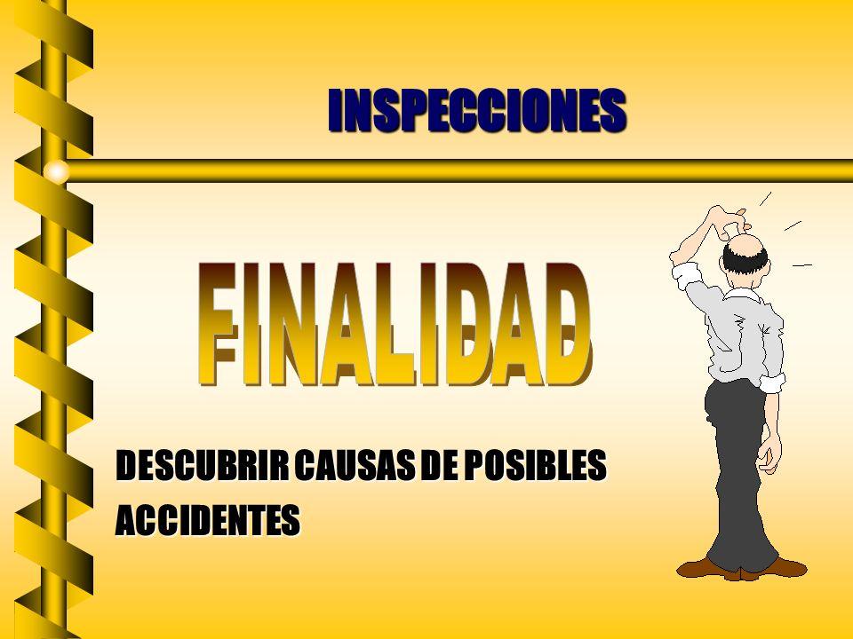INSPECCIONES DESCUBRIR CAUSAS DE POSIBLES ACCIDENTES FINALIDAD