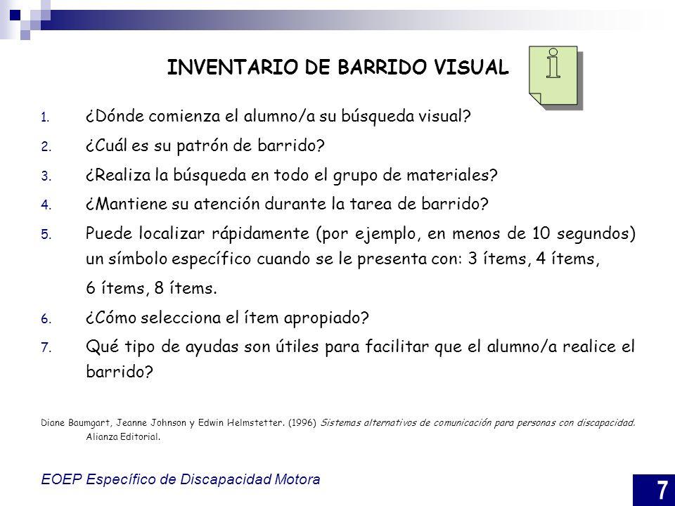 INVENTARIO DE BARRIDO VISUAL