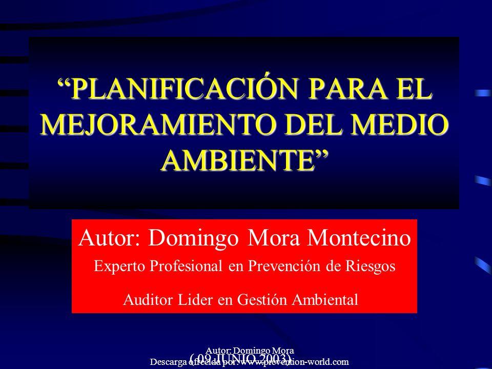 PLANIFICACIÓN PARA EL MEJORAMIENTO DEL MEDIO AMBIENTE