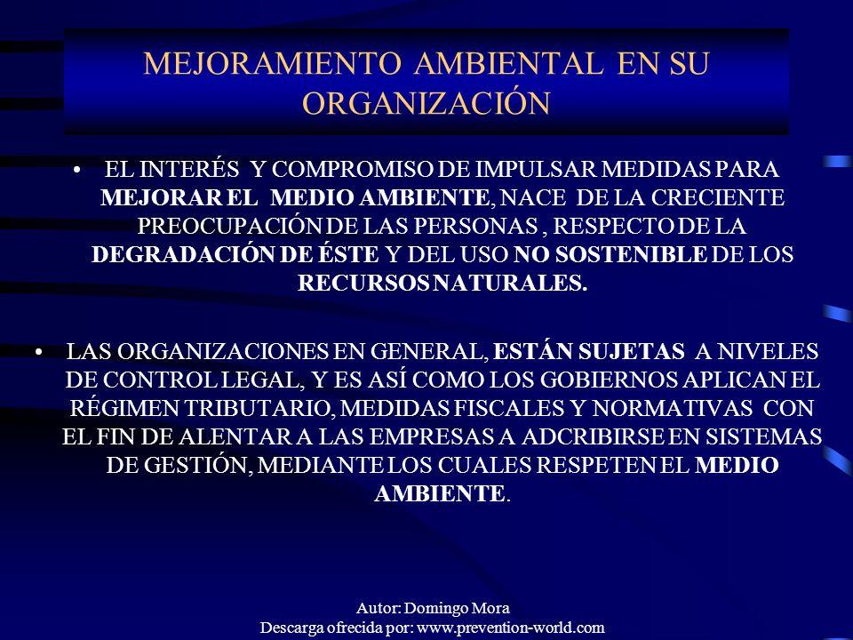 MEJORAMIENTO AMBIENTAL EN SU ORGANIZACIÓN