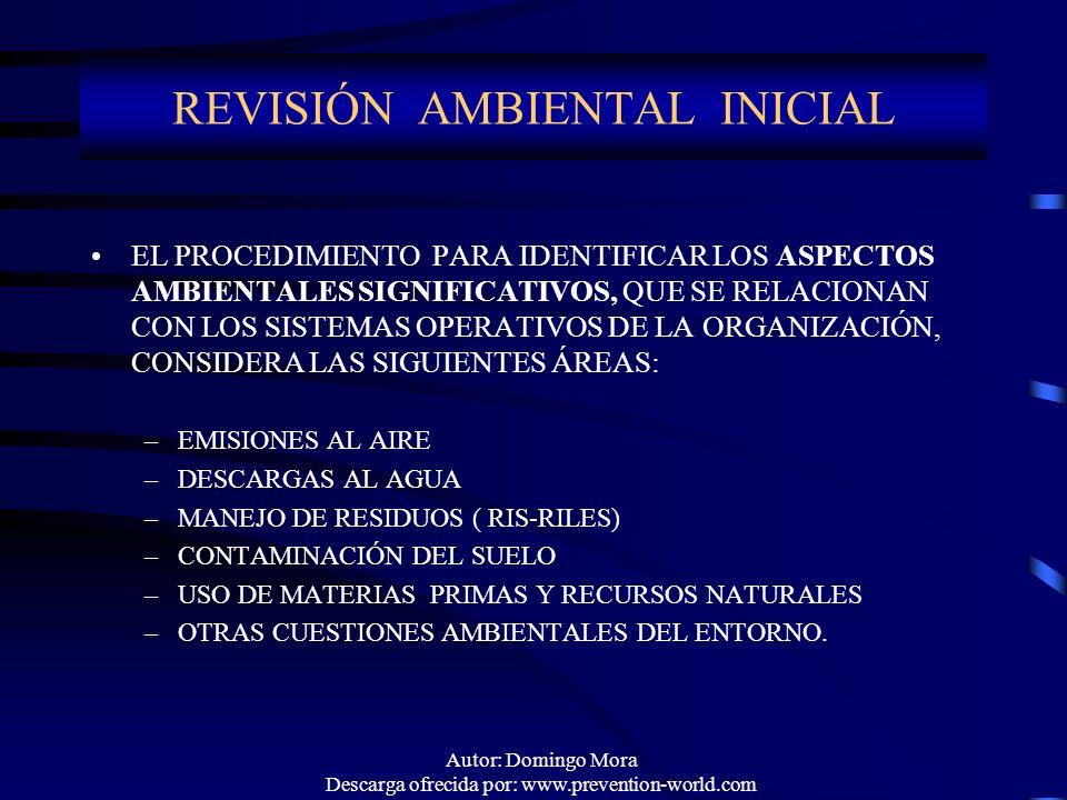 REVISIÓN AMBIENTAL INICIAL
