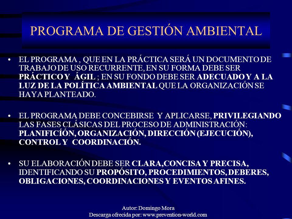 PROGRAMA DE GESTIÓN AMBIENTAL