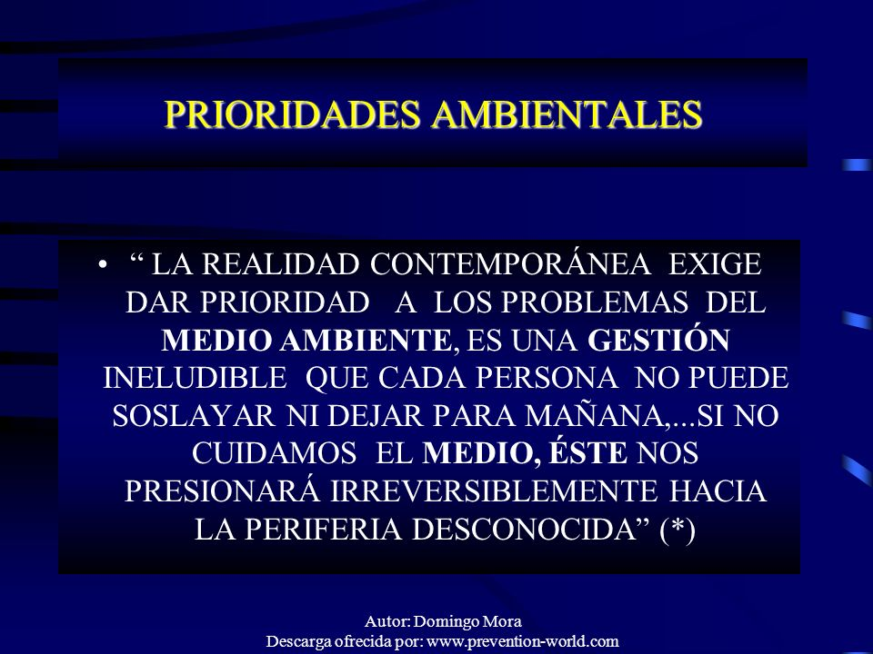 PRIORIDADES AMBIENTALES