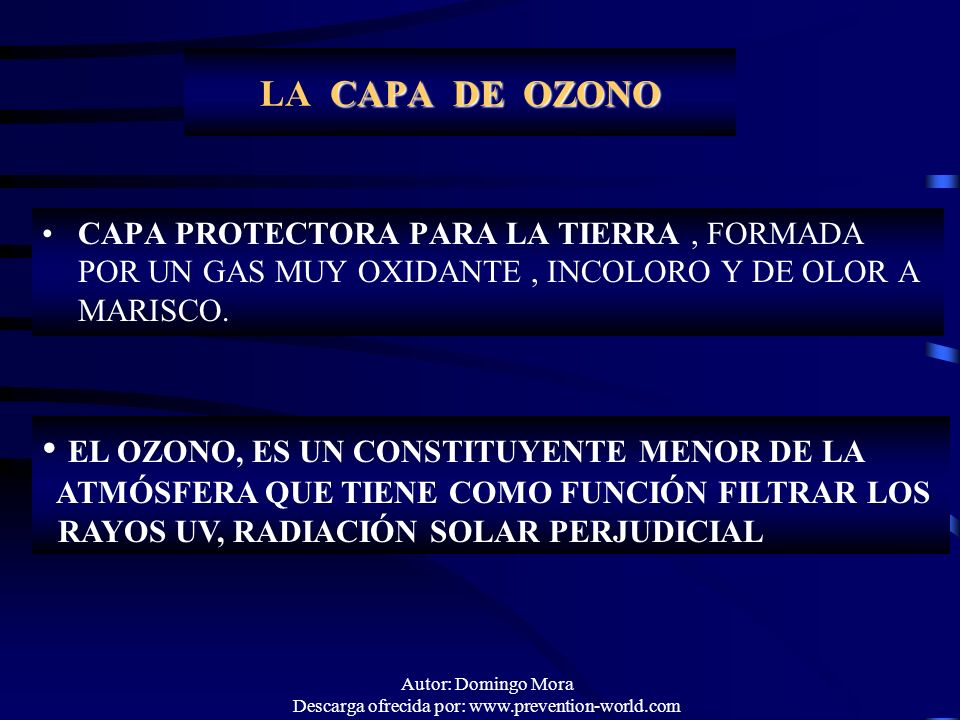 Autor: Domingo Mora Descarga ofrecida por: www.prevention-world.com