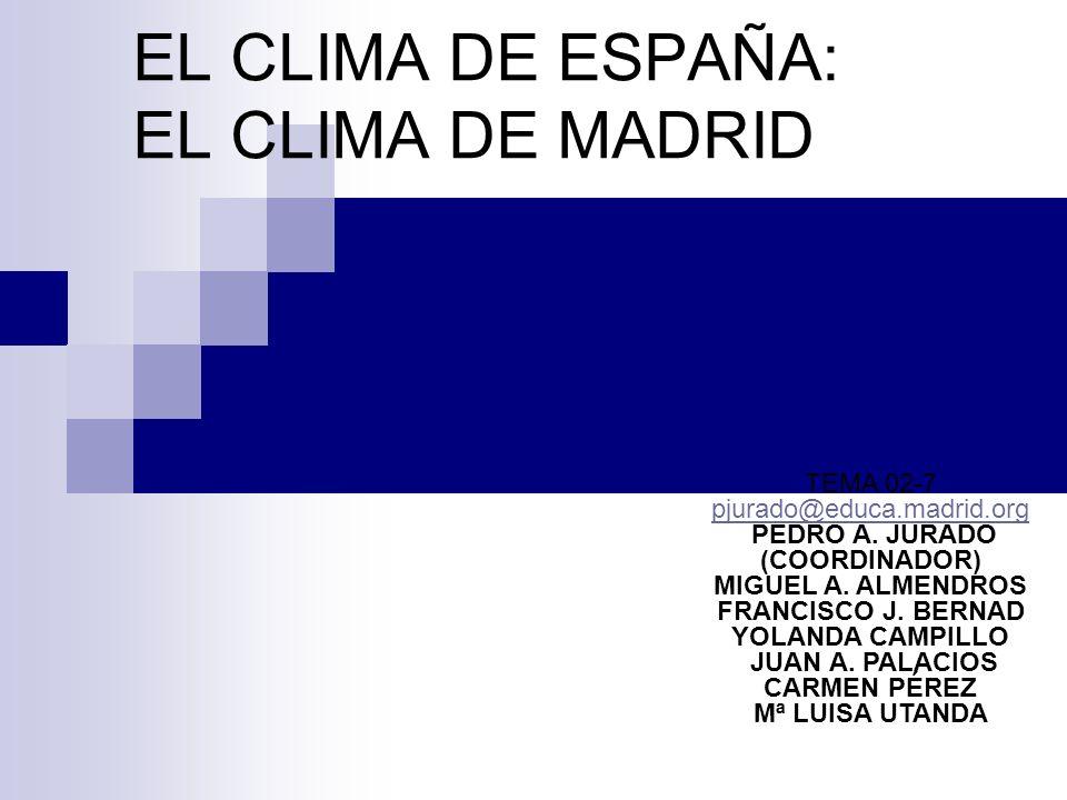 EL CLIMA DE ESPAÑA: EL CLIMA DE MADRID