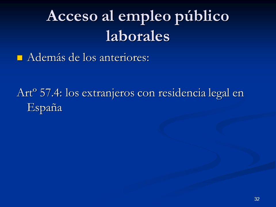 Acceso al empleo público laborales