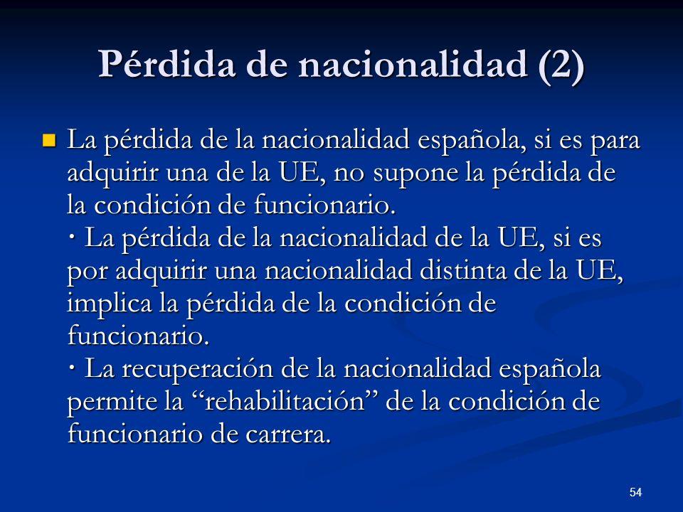 Pérdida de nacionalidad (2)